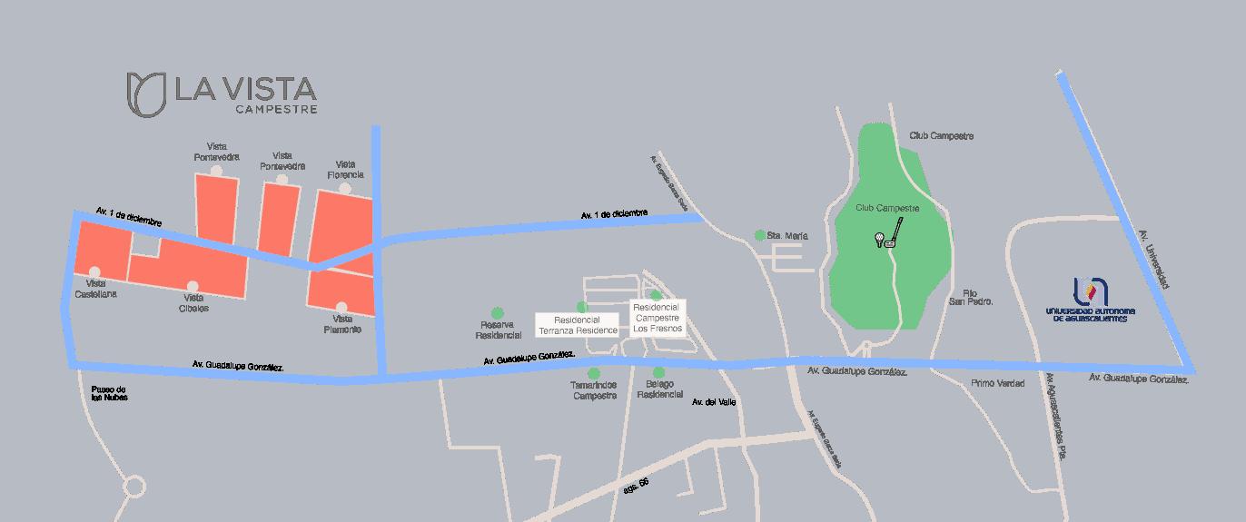 mapa vista campestre